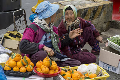 Photograph - Street Vendors, S. Korea by Judith Barath