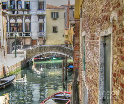 Pyrography - street Venice by Yury Bashkin