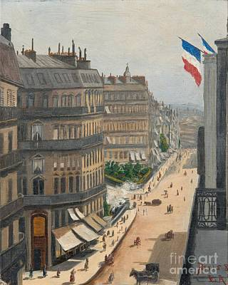 Painting - Street View From Paris by Celestial Images