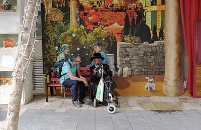 Photograph - Street View In Jerusalem by Dubi Roman