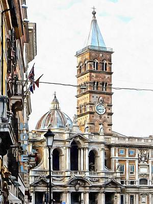 Photograph - Street View Toward Basilica Di Santa Maria Maggiore Rome by Dorothy Berry-Lound