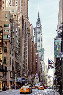 Photograph - Street View With Chrysler Building, New York, Usa by Matteo Colombo