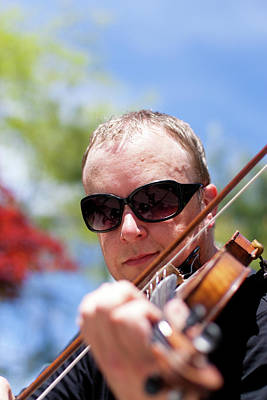 Photograph - Street Violinist II by Michael Thibault