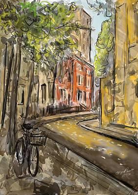 Streetscape Digital Art - Street, West Village by Bryce Prevatte