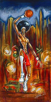 Painting - Streetball by Daryl Price