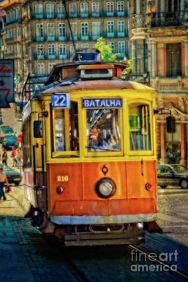 Photograph - Streetcar 22 - Porto by Mary Machare