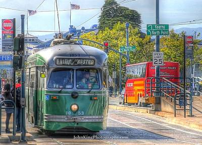 Photograph - Streetcar On The Wharf by John King