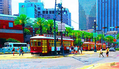 Photograph - Streetcars In New Orleans by CHAZ Daugherty
