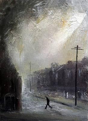 Street Painting - Streetlight by Walker Scott