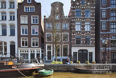 Streets And Channels Of Amsterdam Art Print by Andre Goncalves
