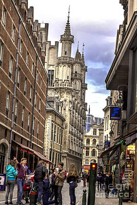 Belguim Wall Art - Photograph - Streets Arround Grand Place Rue De L-etuve by Bouquet  Of arts