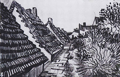 Drawing - Streets In Saintes-maries by Vincent van Gogh
