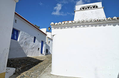 Streets Of A Medieval Castle. Alentejo Art Print