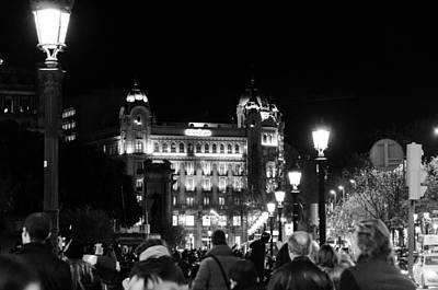 Photograph - Streets Of Barcelona At Night by Andrea Mazzocchetti
