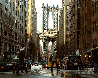 Dog Walking Digital Art - Streets Of Brooklyn by Alissa Beth Photography