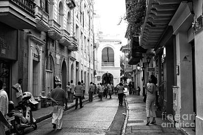 Of Artist Photograph - Streets Of Cartagena II by John Rizzuto