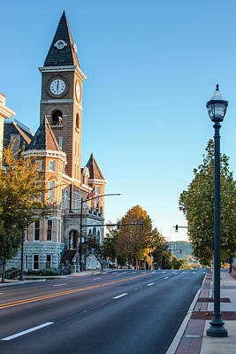 Photograph - Streets Of Downtown Fayetteville Arkansas by Gregory Ballos