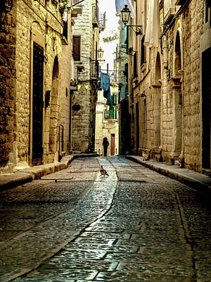 Photograph - Streets Of Giovinazzo, Italy by Robin Zygelman