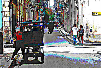 Streets Of Havana 3 Art Print by Sergio B