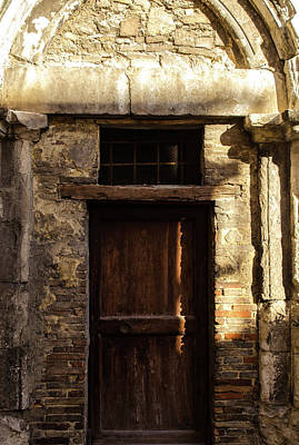 Photograph - Streets Of Italy - An Ancient Door by Andrea Mazzocchetti