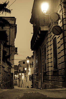Photograph - Streets Of Italy At Night 2 by Andrea Mazzocchetti