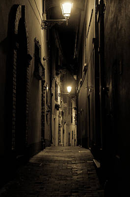Photograph - Streets Of Italy At Night 3 by Andrea Mazzocchetti