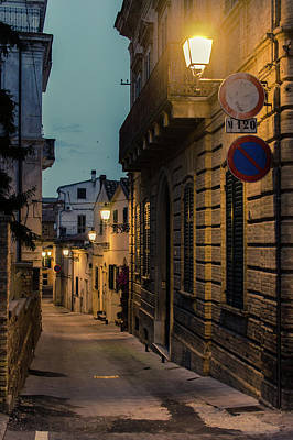 Photograph - Streets Of Italy At Night by Andrea Mazzocchetti