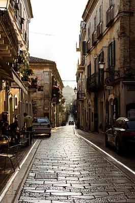 Photograph - Streets Of Italy - Citta Sant Angelo 2 by Andrea Mazzocchetti