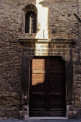Streets Of Italy - An Ancient Door 2 Art Print