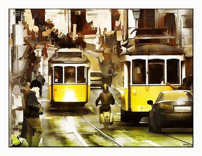 Streets Of Lisbon Original by Daniel  Arrhakis