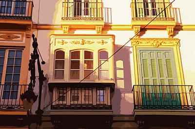 Painting - Streets Of Malaga, Felix Saenz Square - 02 by Andrea Mazzocchetti