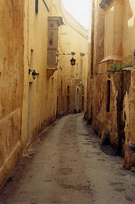Art Print featuring the photograph Streets Of Malta by Debbie Karnes
