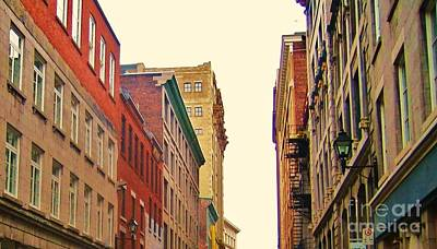 Montreal Buildings Photograph - Streets Of Montreal by Reb Frost