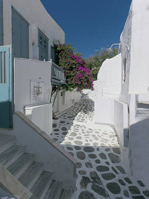 Photograph - Streets Of Mykonos by S Paul Sahm