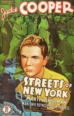 Mixed Media - Streets Of New York 1939 by Mountain Dreams
