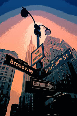 Painting - Streets Of New York City - Broadway by Andrea Mazzocchetti
