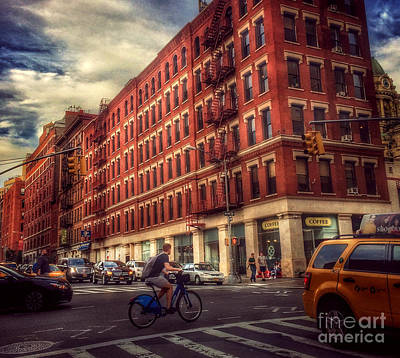 Photograph - Streets Of New York - Downtown by Miriam Danar