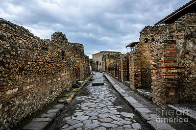 Photograph - Streets Of Pompeii 2 by Debra Martz