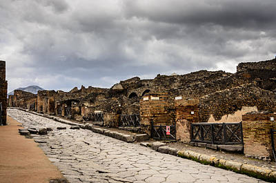 Photograph - Streets Of Pompeii by Debra Martz