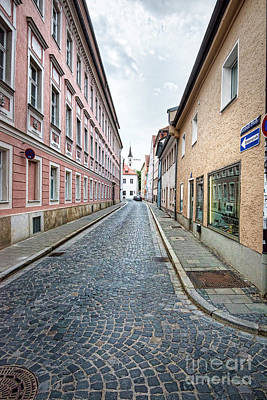 Streets Of Regensburg_6335 Art Print
