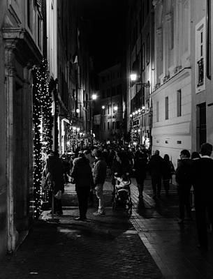 Urban Exploration Photograph - Streets Of Rome At Night  by Andrea Mazzocchetti