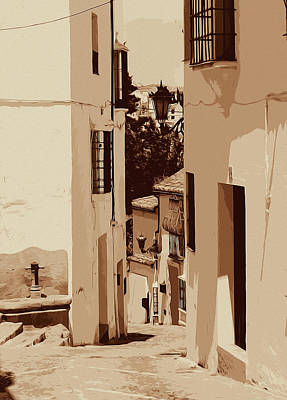 Painting - Streets Of Ronda, Streets Of Andalusia by Andrea Mazzocchetti