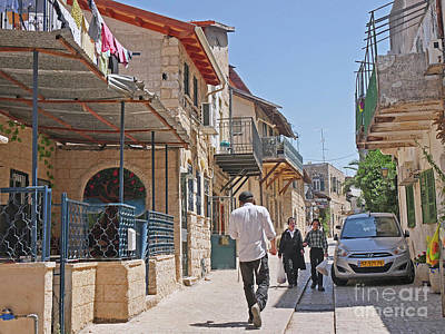 Kaballah Photograph - Streets Of Safed by Maxine Kamin