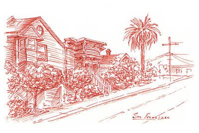 Painting - Streets Of San Francisco Richmond District by Irina Sztukowski