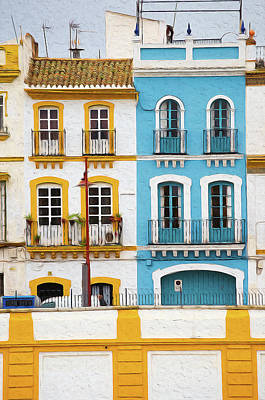 Painting - Streets Of Seville - 03 by Andrea Mazzocchetti