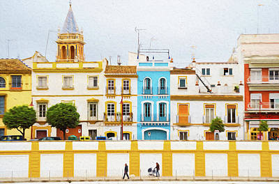 Painting - Streets Of Seville - 04 by Andrea Mazzocchetti