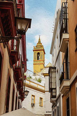 Painting - Streets Of Seville - 05 by Andrea Mazzocchetti