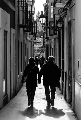 Streetlight Photograph - Streets Of Seville - Always Togheter by Andrea Mazzocchetti