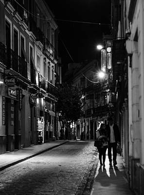 Photograph - Streets Of Seville At Night 3 by Andrea Mazzocchetti