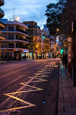 Streetlight Photograph - Streets Of Seville At Night 5 by Andrea Mazzocchetti